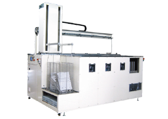 07Full-automatic ultrasonic cleaning system for molded plastic components